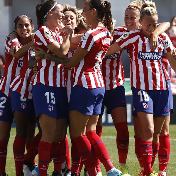 Herbalife Nutrition patrocinando equipo de fútbol femenino atlético madrid