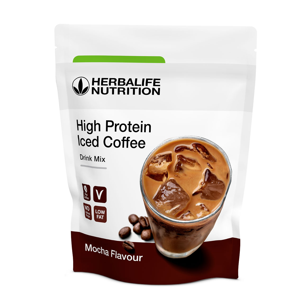 High Protein Iceed Coffee  Produkt proteinowy o smaku Mocha product shot