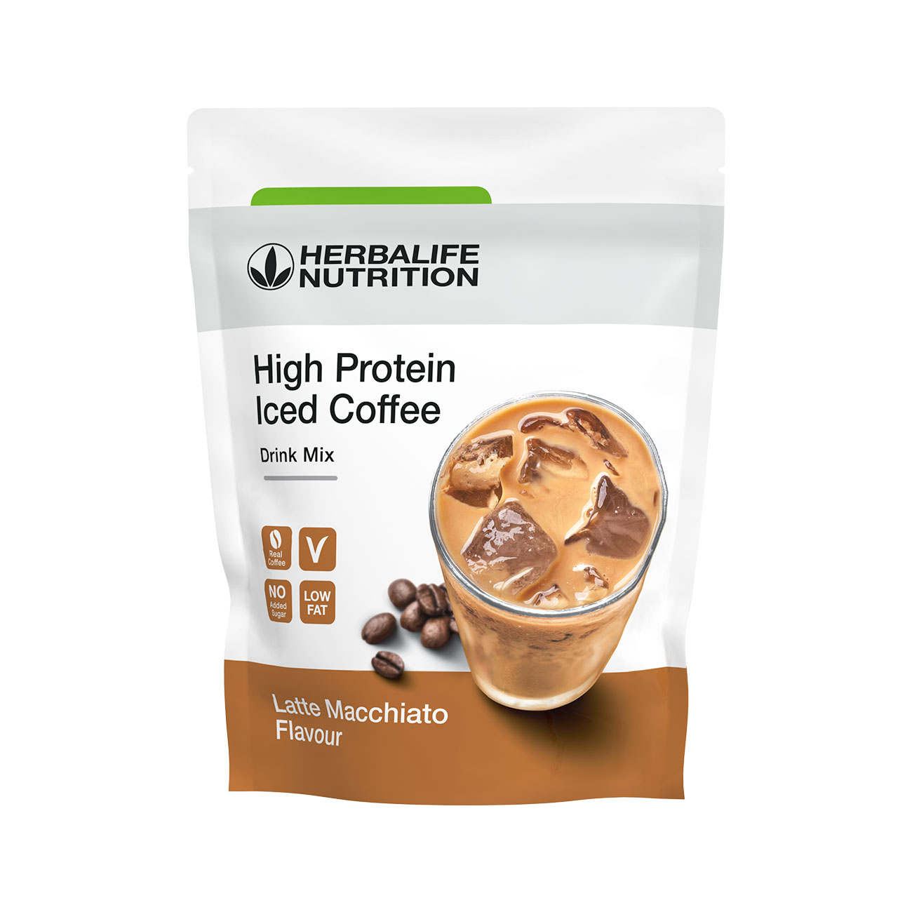 High Protein Iceed Coffee  Produkt proteinowy o smaku Latte Macchiato product shot